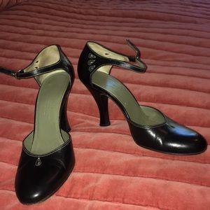 Cole Haan black ankle strap pumps! 💙